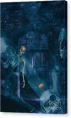 Halloween Double Exposure Canvas Print by Amanda Elwell