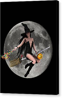 Halloween Fly By Canvas Print by Frederico Borges