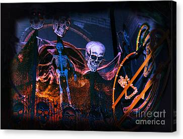 Halloween Ghost Party Canvas Print by Charline Xia