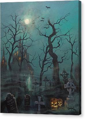 Halloween Ghost Canvas Print by Tom Shropshire