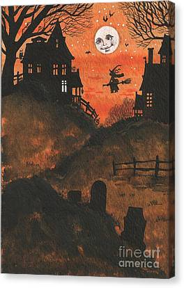 Halloween Hamlet Canvas Print by Margaryta Yermolayeva