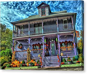Halloween House Canvas Print