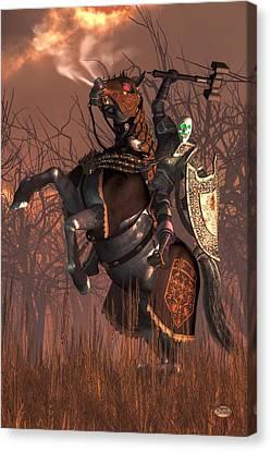 Halloween Knight Canvas Print by Daniel Eskridge