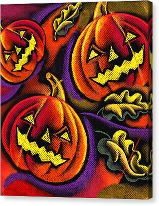 Festivities Canvas Print - Halloween by Leon Zernitsky