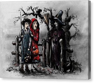 Halloween Night Canvas Print by Rachel Christine Nowicki
