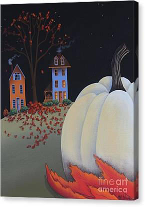 Halloween On Pumpkin Hill Canvas Print