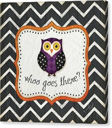 Halloween Owl Canvas Print by Jennifer Pugh