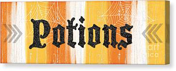 Halloween Potions Sign Canvas Print