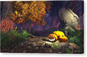 Halloween Pumpkins Canvas Print
