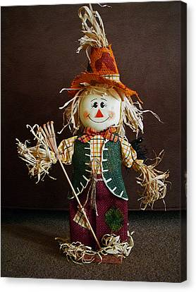 Halloween Scarecrow Canvas Print by Aimee L Maher Photography and Art Visit ALMGallerydotcom