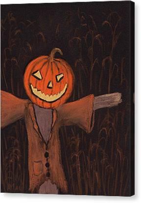Halloween Scarecrow Canvas Print by Anastasiya Malakhova