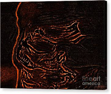 Halloween Specter Black By Jrr Canvas Print by First Star Art