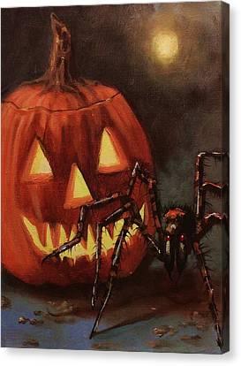 Halloween Spider Canvas Print by Tom Shropshire
