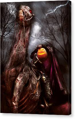 Horse Lover Canvas Print - Halloween - The Headless Horseman by Mike Savad