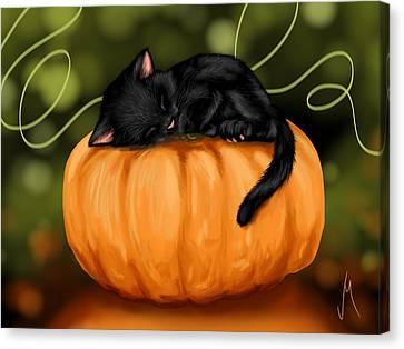 Halloween Canvas Print by Veronica Minozzi