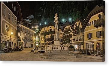Hallstatt Canvas Print - Hallstatt Town Square by Wade Aiken