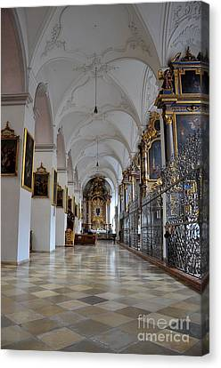Canvas Print featuring the photograph Hallway Of A Church Munich Germany by Imran Ahmed