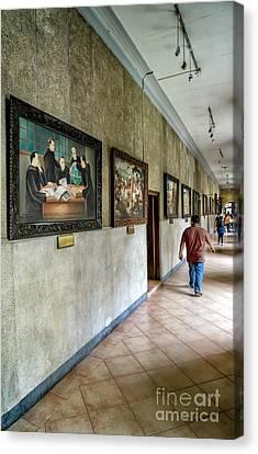 Hallway Of Paintings Canvas Print by Adrian Evans