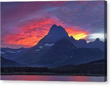 Halo On The Mountain Canvas Print by Andrew Soundarajan