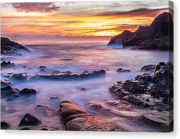 Halona Cove Sunrise 3 Canvas Print