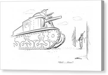 3rd Corps Canvas Print - Halt! . . . Please by  Alain