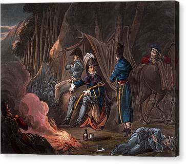 Officer Canvas Print - Halting In The Pyrenees In July 1813 by William Heath