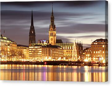 Hamburg Christmas Canvas Print