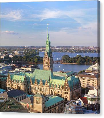 Hamburg City Hall Canvas Print by Marc Huebner