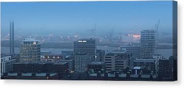 Hamburg Hafencity Panorama Canvas Print by Marc Huebner