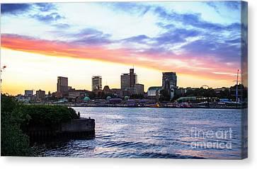 Hamburg Riverside Canvas Print by Daniel Heine