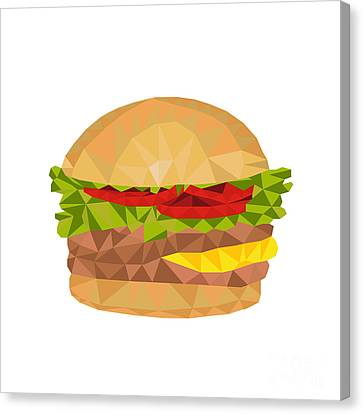 Hamburger Canvas Print - Hamburger Low Polygon by Aloysius Patrimonio