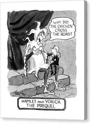 Shakespeare Canvas Print - Hamlet And Yorick The Prequel by Edward Frascino