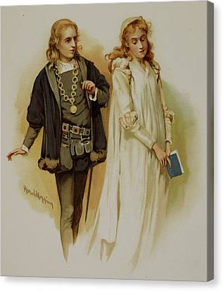 Hamlet Canvas Print by British Library