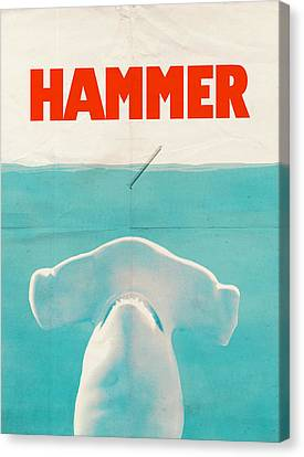 Hammerhead Shark Canvas Print - Hammer by Eric Fan