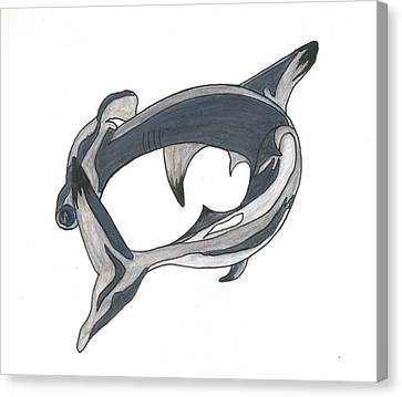 Canvas Print - Hammer Head Shark by Cherie Sexsmith