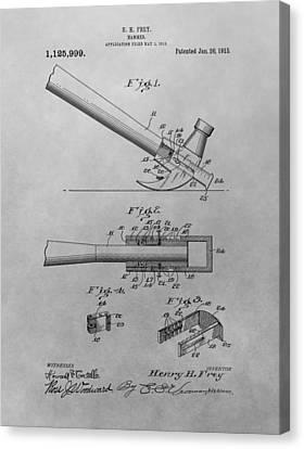 Hammer Patent Canvas Print