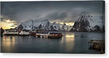 Hamnoy Village On Lofoten, Nordland Canvas Print by Panoramic Images