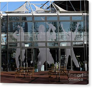Hampshire County Cricket Glass Pavilion Canvas Print by Terri Waters