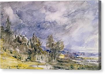 Hampstead Heath From Near Well Walk Canvas Print by John Constable