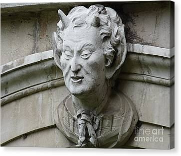 Hampton Court Palace Gargoyle Canvas Print by Deborah Smolinske