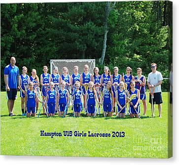 Hampton U15 Girls 2013 Canvas Print