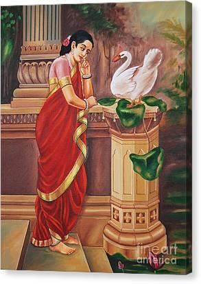 Hamsa Damayanthi Canvas Print