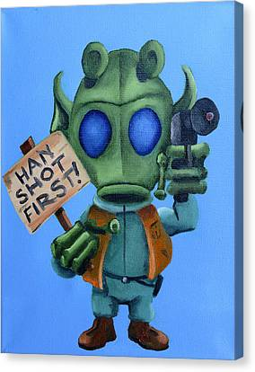 Han Shot First  Canvas Print by Chris  Leon