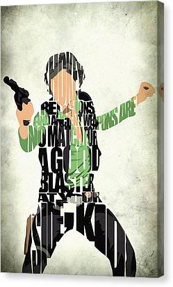 Han Solo From Star Wars Canvas Print by Ayse Deniz