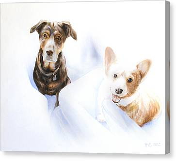 Kevin Hill Canvas Print - Hana And Olive by Kevin Hill