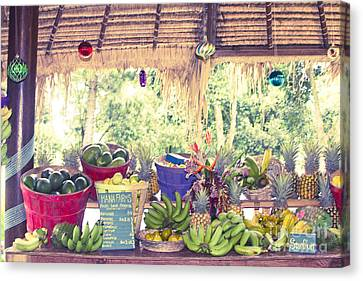 Lilikoi Canvas Print - Hana Fresh Local Fruit by Sharon Mau