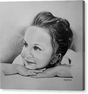 Canvas Print featuring the drawing Hana by Geni Gorani
