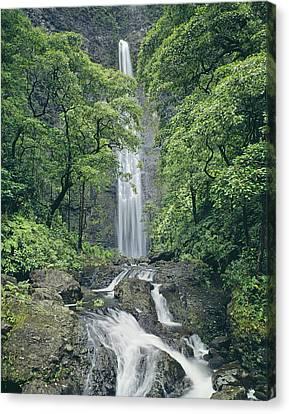 100105-hanakapiai Falls, Kauai  Canvas Print