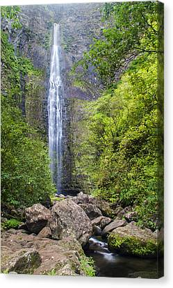 Hanakapiai Falls - Kalalau Trail Kauai Hawaii Canvas Print by Brian Harig