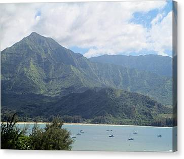 Canvas Print featuring the photograph Hanalei Bay by Alohi Fujimoto